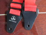 red guitar strap